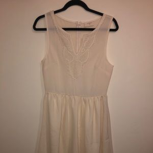 Nordstrom Everly cream dress- worn once!